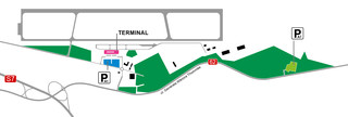 Map of Warsaw Modlin airport & terminal (WMI)